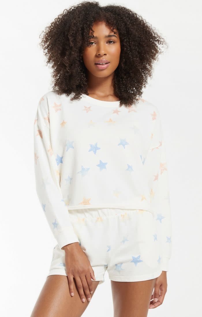 Z SUPPLY Lia Rainbow Star Sweatshirt