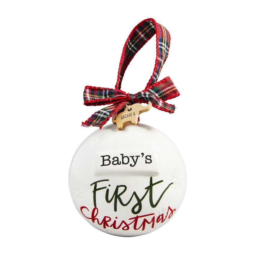 MUD PIE BABY'S FIRST CHRISTMAS ORNAMENT