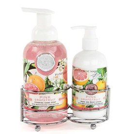 MICHEL DESIGN WORKS PINK GRAPEFRUIT HANDCARE CADDY