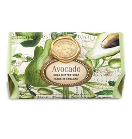 MICHEL DESIGN WORKS AVOCADO LG SOAP BAR