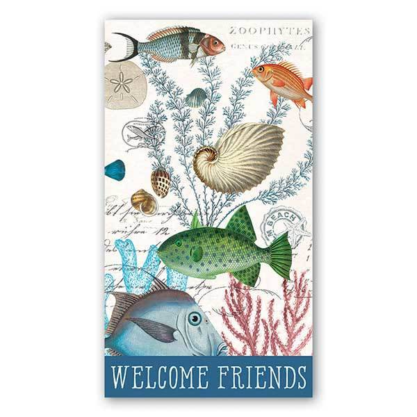 MICHEL DESIGN WORKS SEA LIFE HOSTESS NAPKIN
