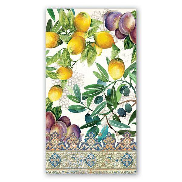 MICHEL DESIGN WORKS TUSCAN GROVE HOSTESS NAPKIN