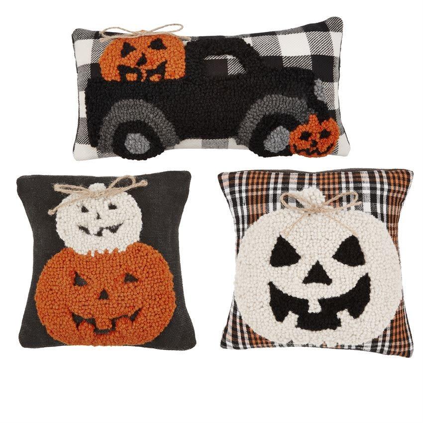 MUD PIE Halloween Hooked Mini Pillows