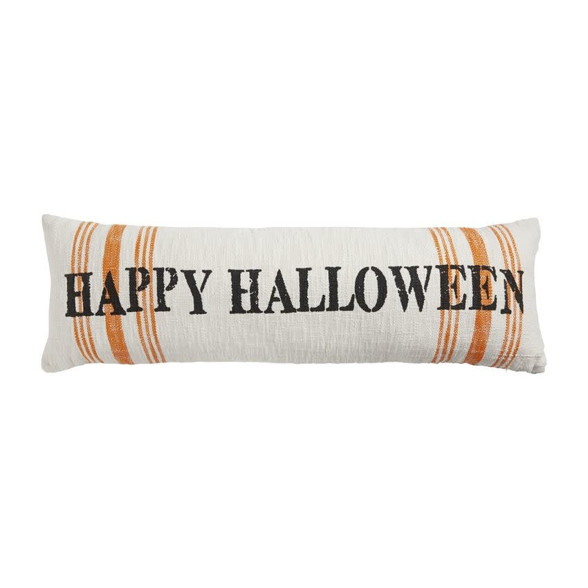MUD PIE Halloween Stripe Long Pillow