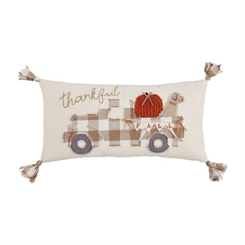 MUD PIE Fall Truck Pillow