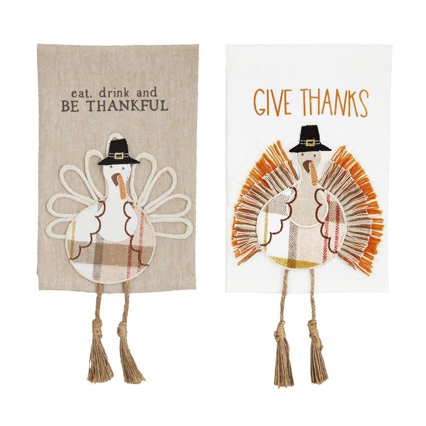MUD PIE Turkey Dangle Leg Towels