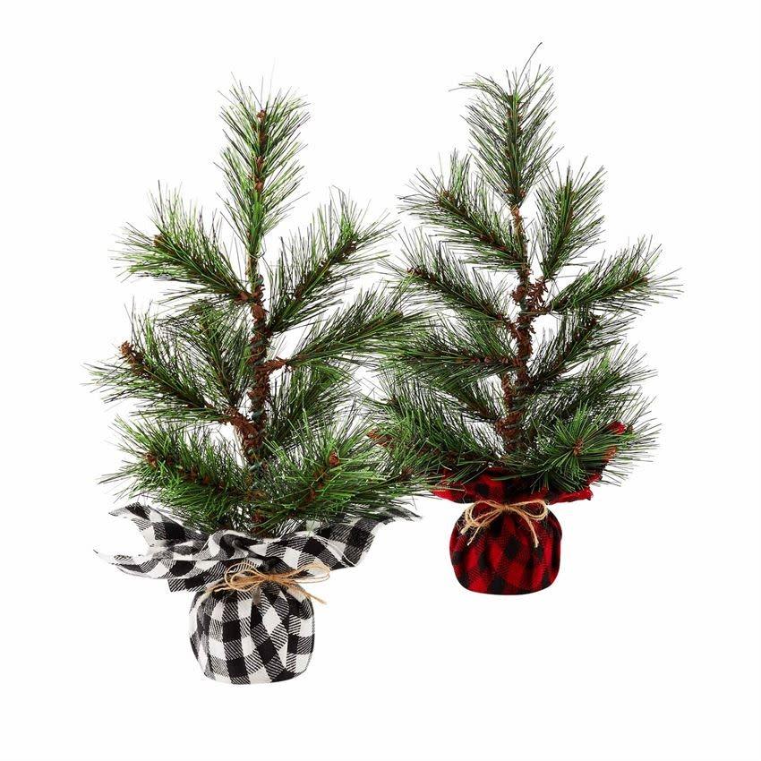 MUD PIE Buffalo Faux Pine Tree