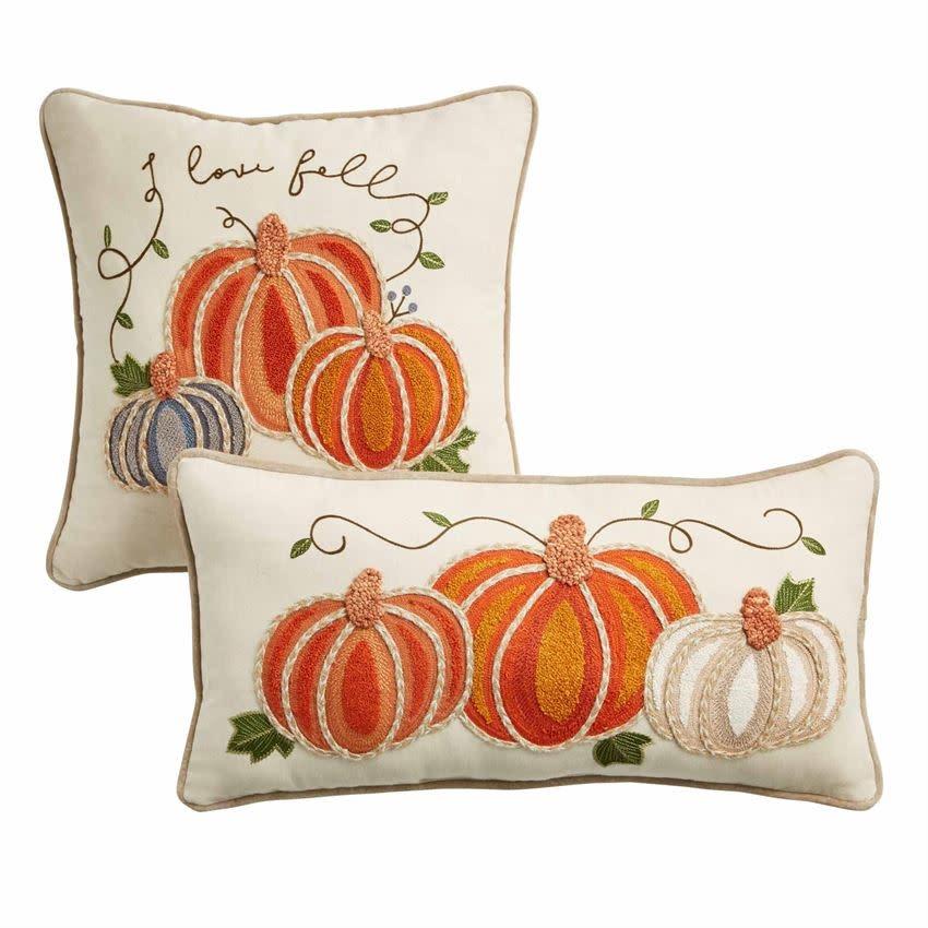 MUD PIE Embroidered Pumpkin Pillows