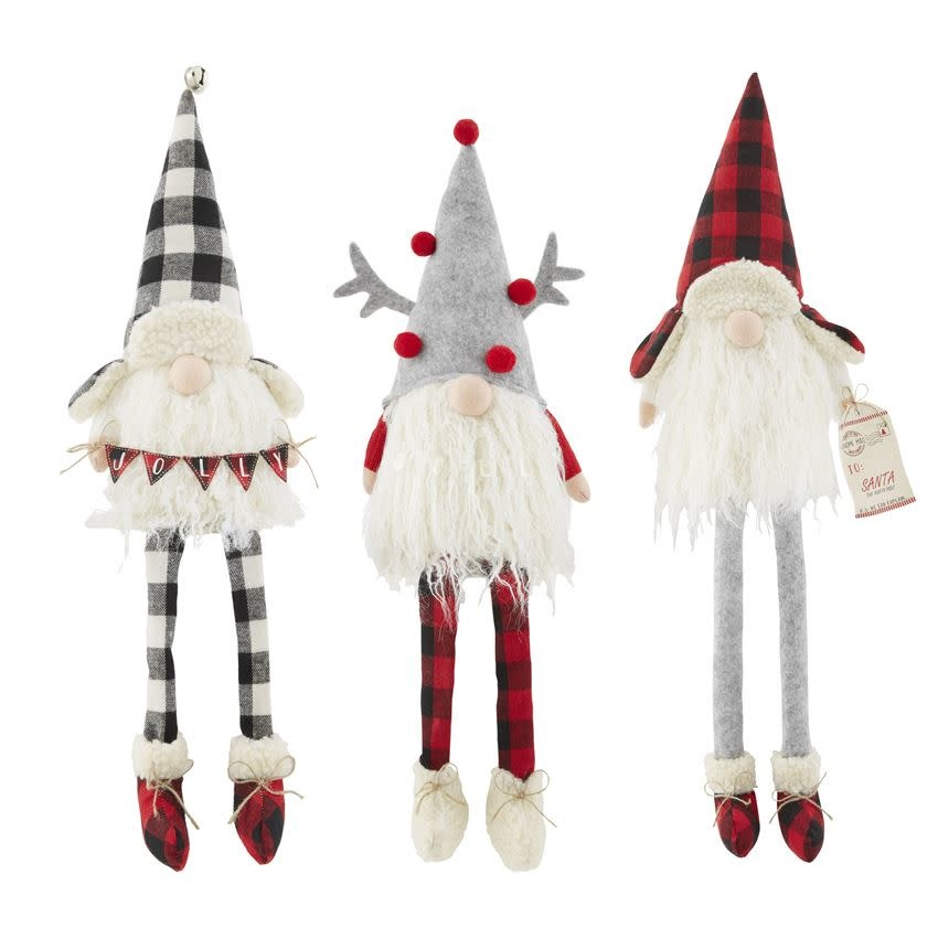 MUD PIE Check Dangle Leg Gnomes