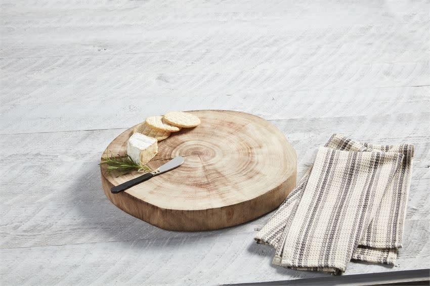 MUD PIE Wood Slice Board Set