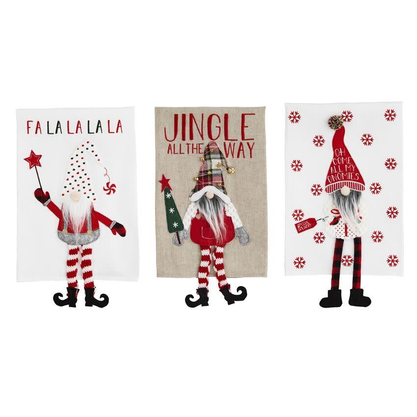MUD PIE Christmas Dangle Leg Towels