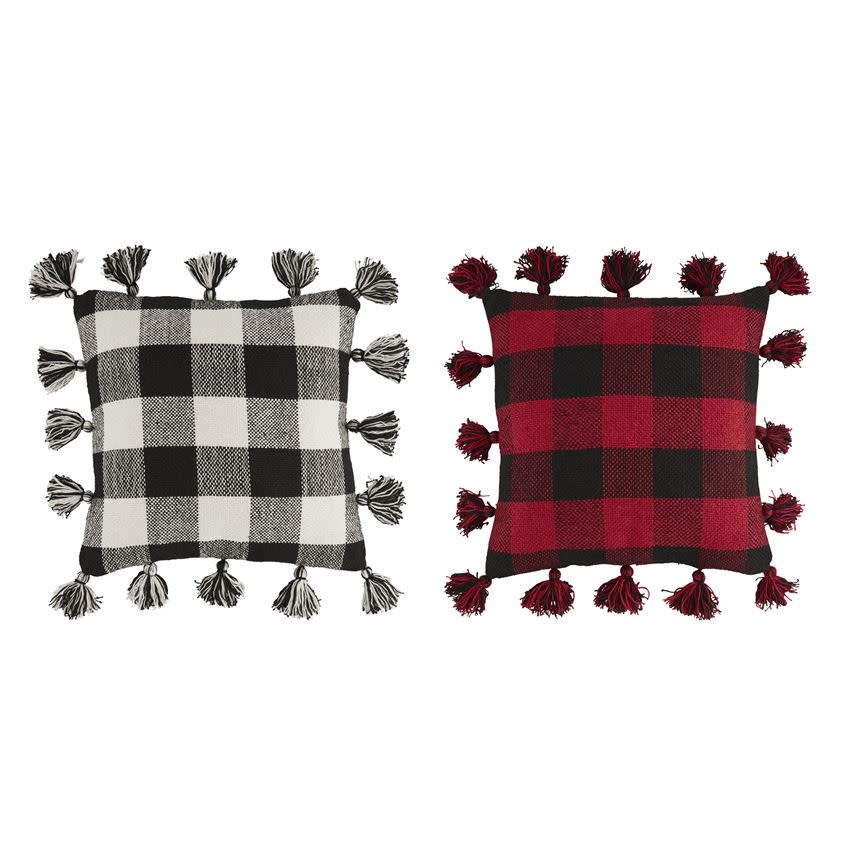 MUD PIE Large Buffalo Check Pillows