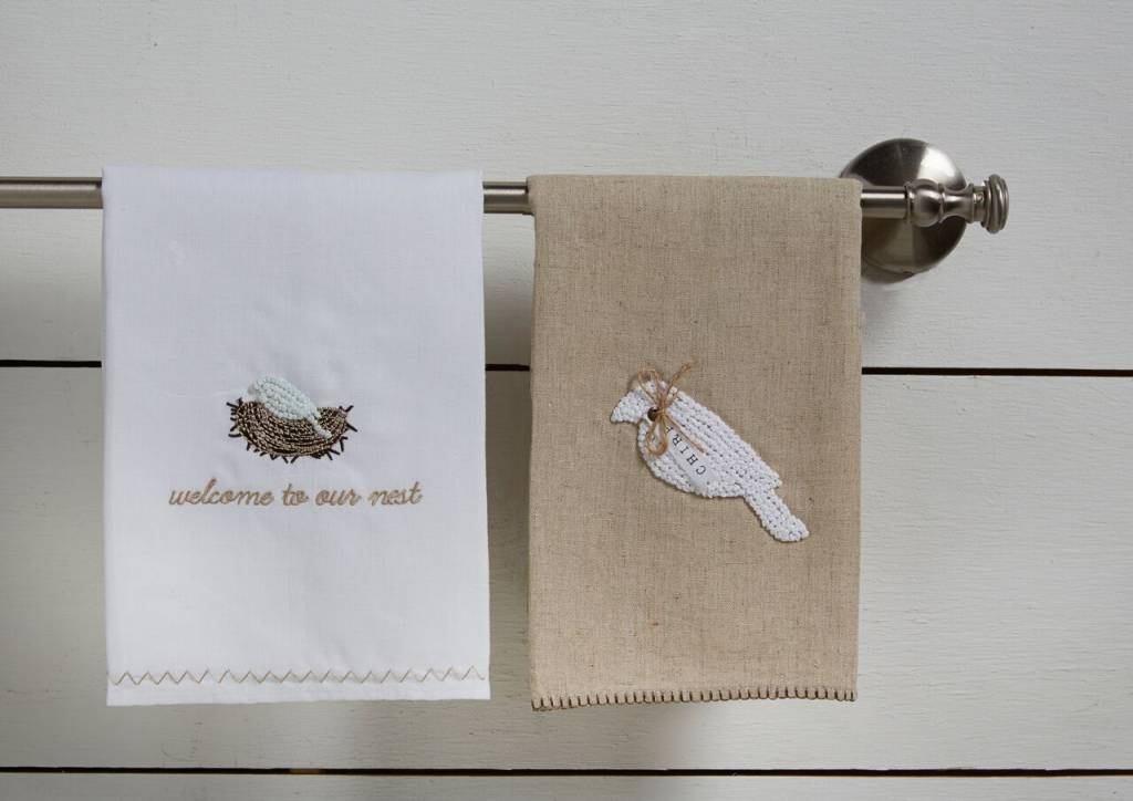 MUD PIE NEST FRENCH KNOT TOWEL