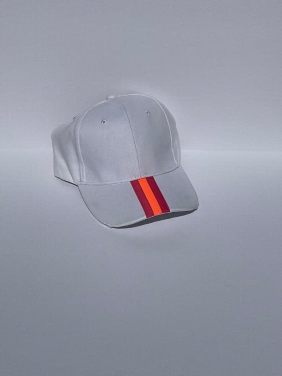 HAUTE SHORE HAUTE HAT-BOARDWALK WHITE PINK/ORANGE STR