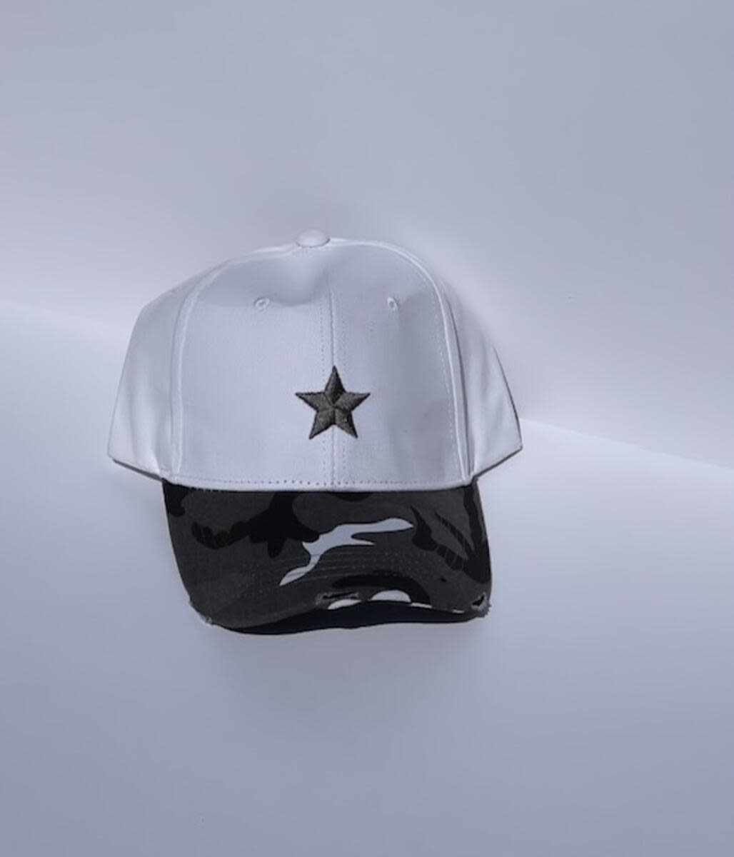 HAUTE SHORE HAUTE HAT-BOARDWALK WHITE CHAR STAR/CAMO