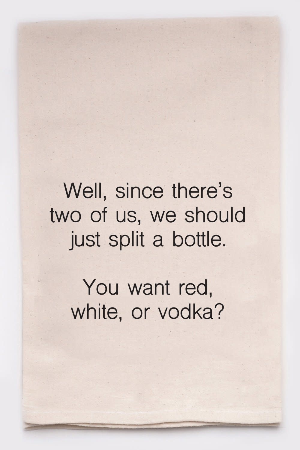 ELLEMBEE GIFT Dish Towels- Red, White, or Vodka