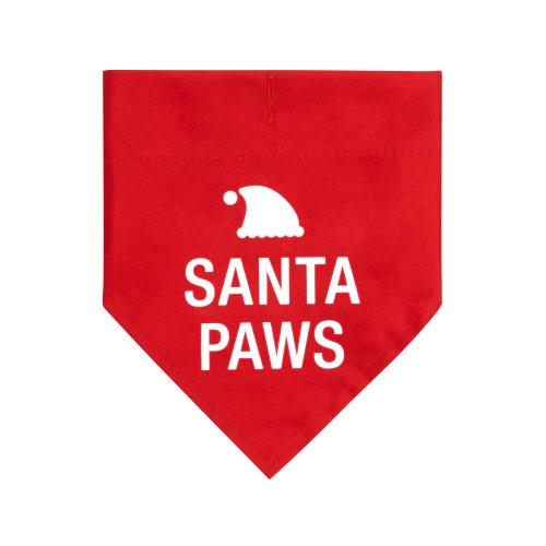 SANTA PAWS DOG COLLAR BANDANA L/XL