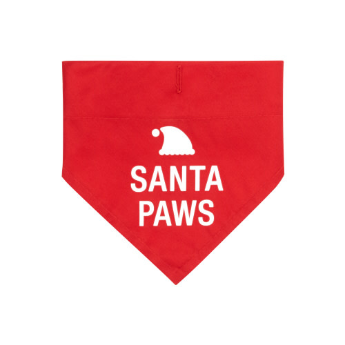 SANTA PAWS DOG COLLAR BANDANA S/M