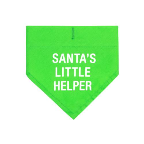 SANTA'S LITTLE HELPER DOG COLLAR BANDANA S/M