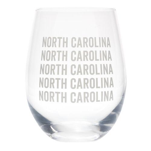 NORTH CAROLINA WINE GLASS