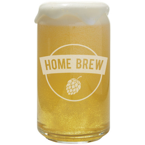 CARSON HOME ACCENTS HOME BREW 15 OZ CAN GLASS