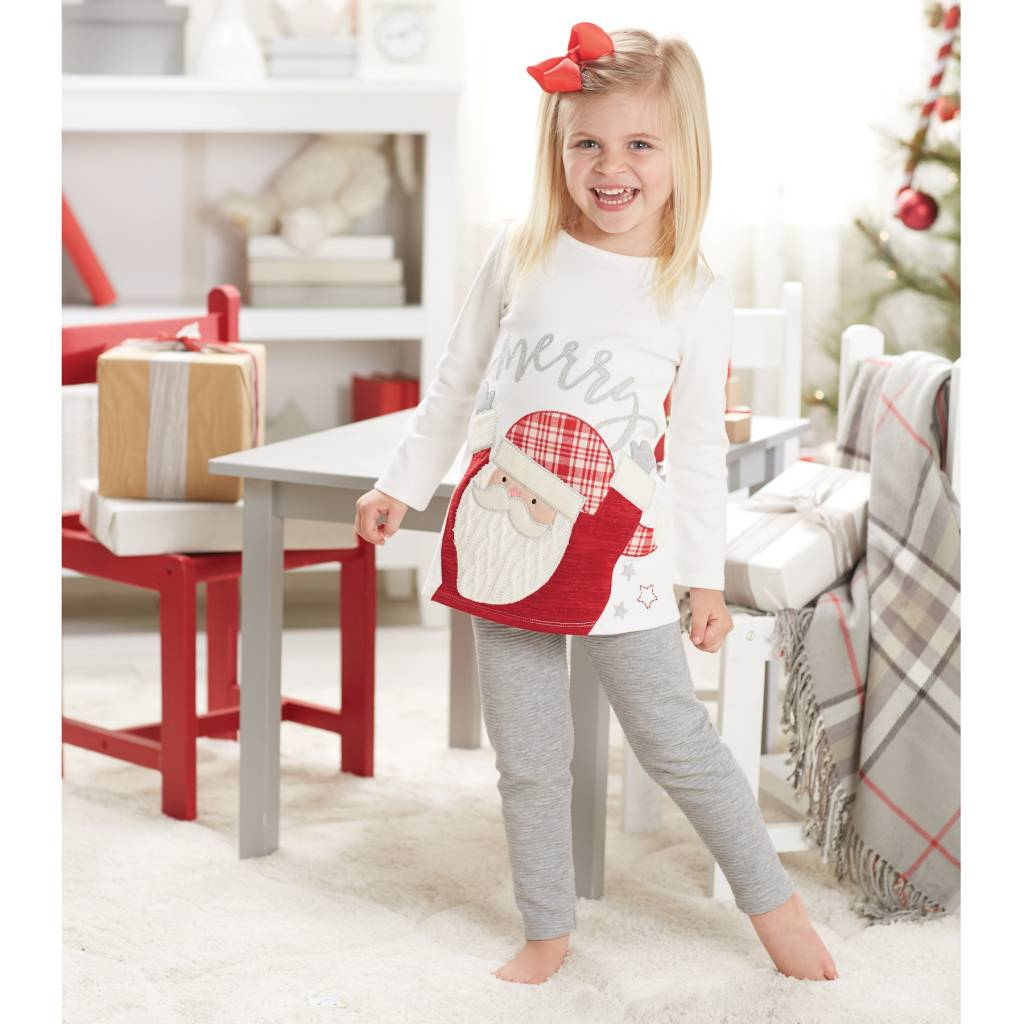 MUD PIE SANTA TUNIC & LEGGING SET
