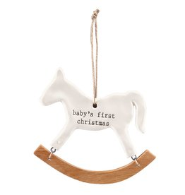 MUD PIE ROCKING HORSE ORNAMENT
