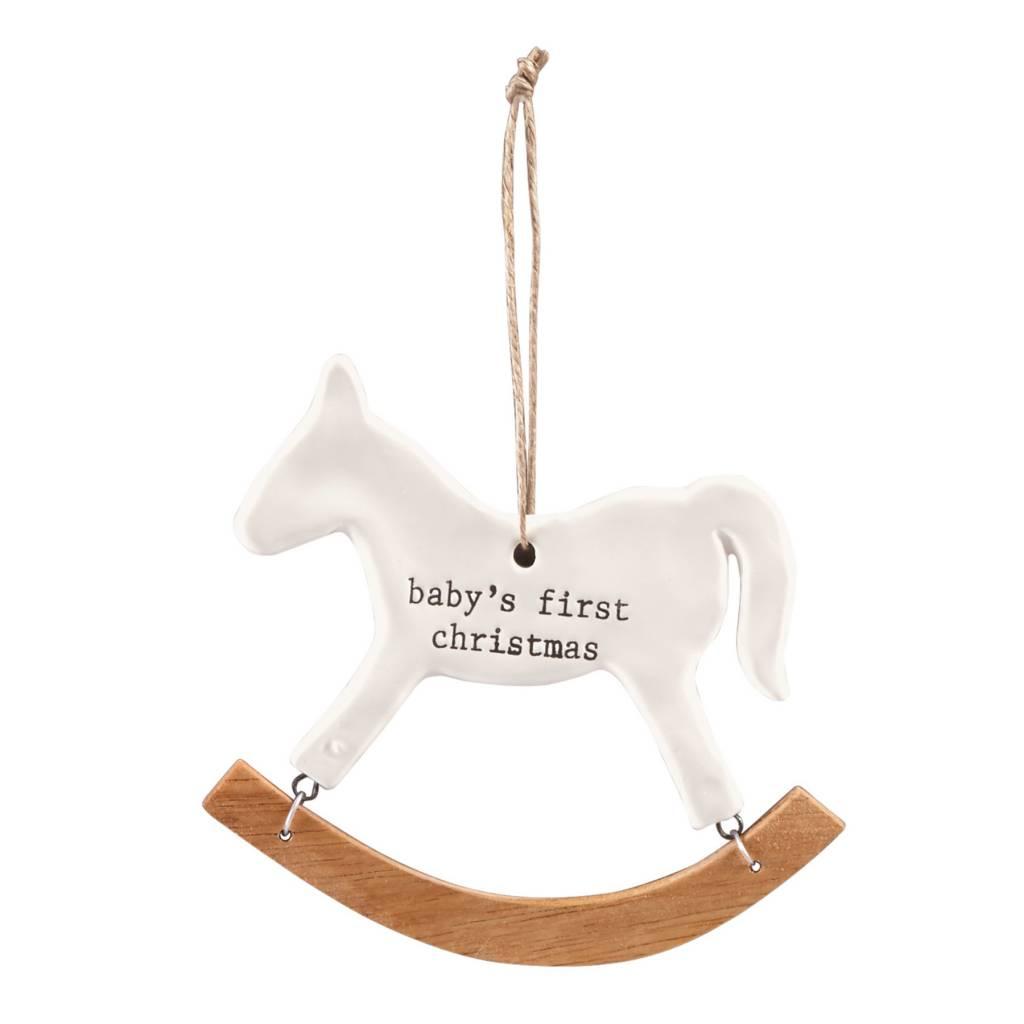 MUD PIE ROCKING HORSE ORNAMENT