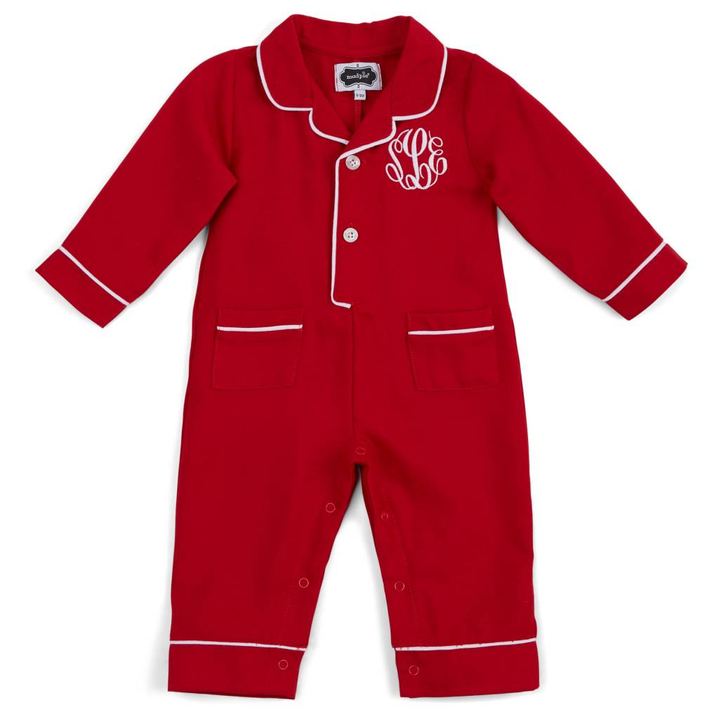 MUD PIE RED PAJAMA ONE-PIECE