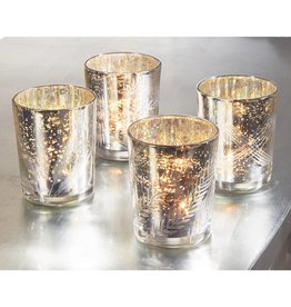 MUD PIE MERCURY GLASS VOTIVE HOLDER