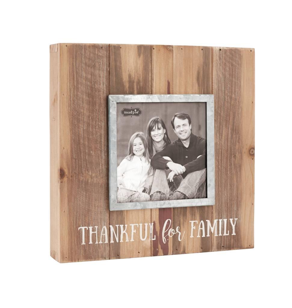 MUD PIE THANKFUL FOR FAMILY TIN FRAME