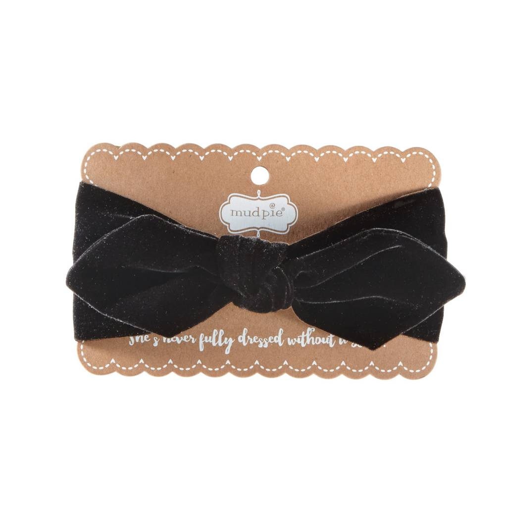 MUD PIE BUFFALO CHECK AND VELVET BOW HEADBANDS