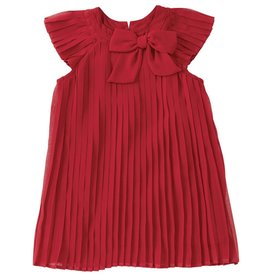 MUD PIE RED CLARET PLEATED DRESS-BABY