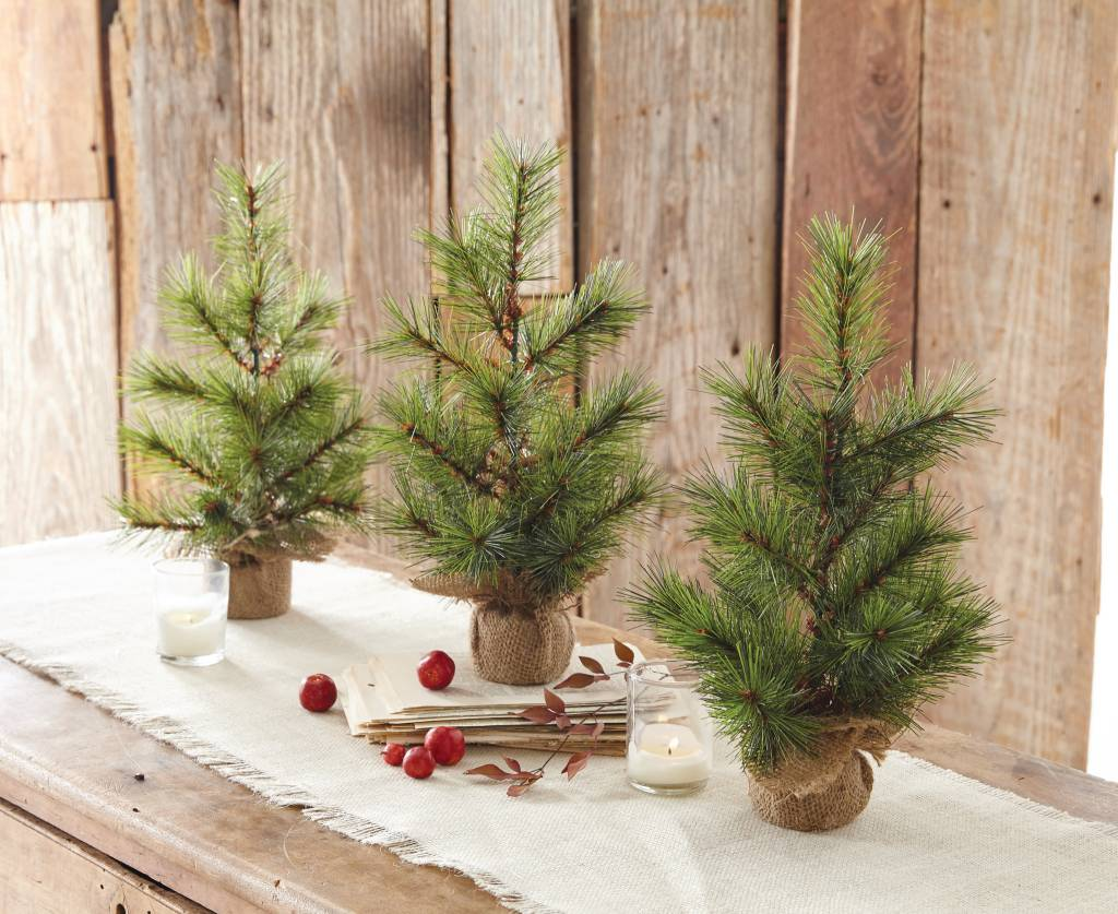 MUD PIE SMALL FAUX PINE TREE
