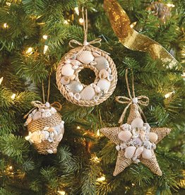 MUD PIE ROPE & SHELL ORNAMENT