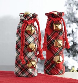 MUD PIE JINGLE BELL WINE BAG