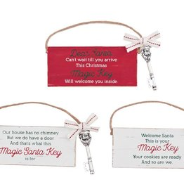 MUD PIE SANTA KEY PLAQUE