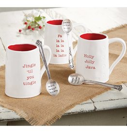 MUD PIE HOLIDAY CIRCA MUG & SPOON SET