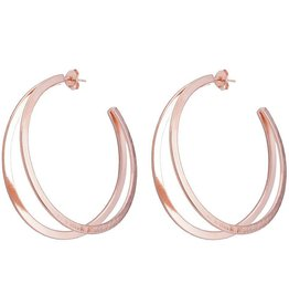 SHEILA FAJL FILIPA DOUBLE HOOPS- ROSE GOLD