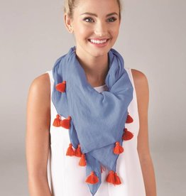 MUD PIE POP TASSEL SCARF