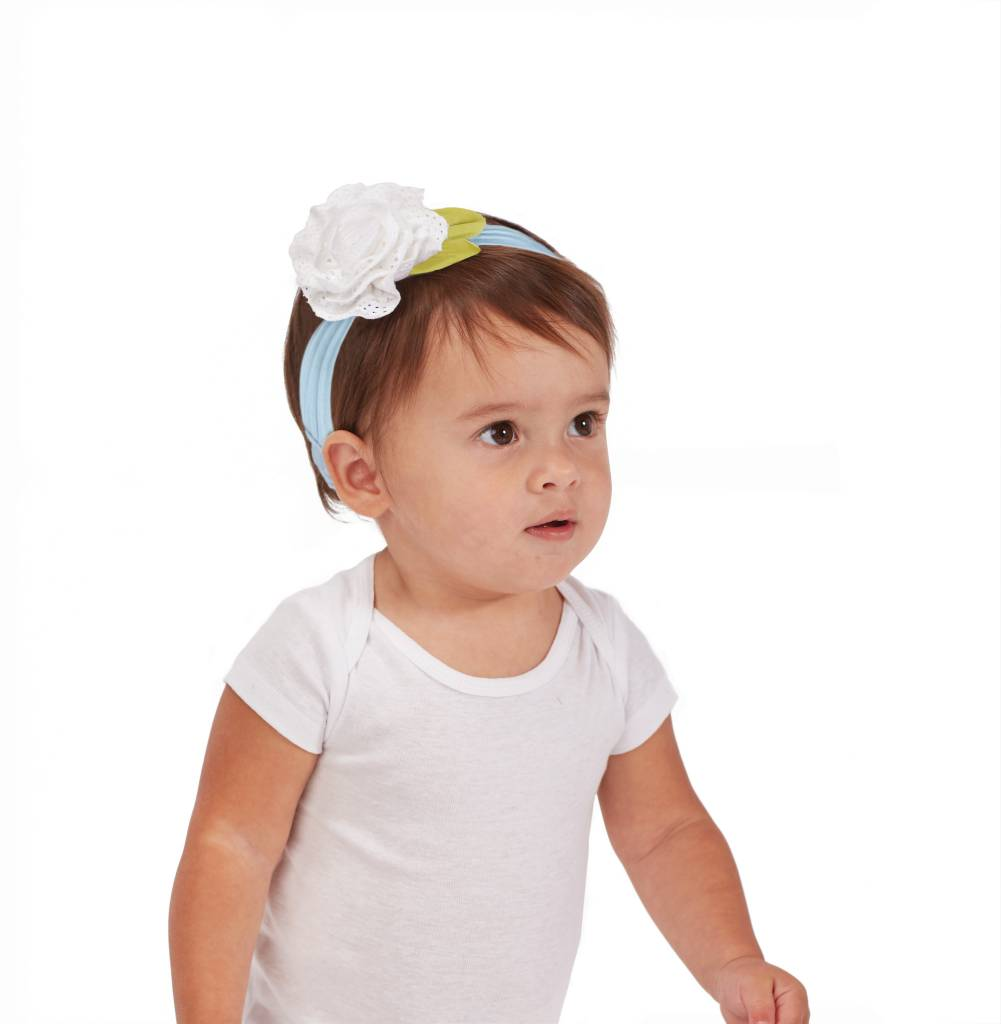 MUD PIE EYELET ROSE HEADBAND