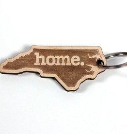 NC HOME WOOD KEY CHAIN
