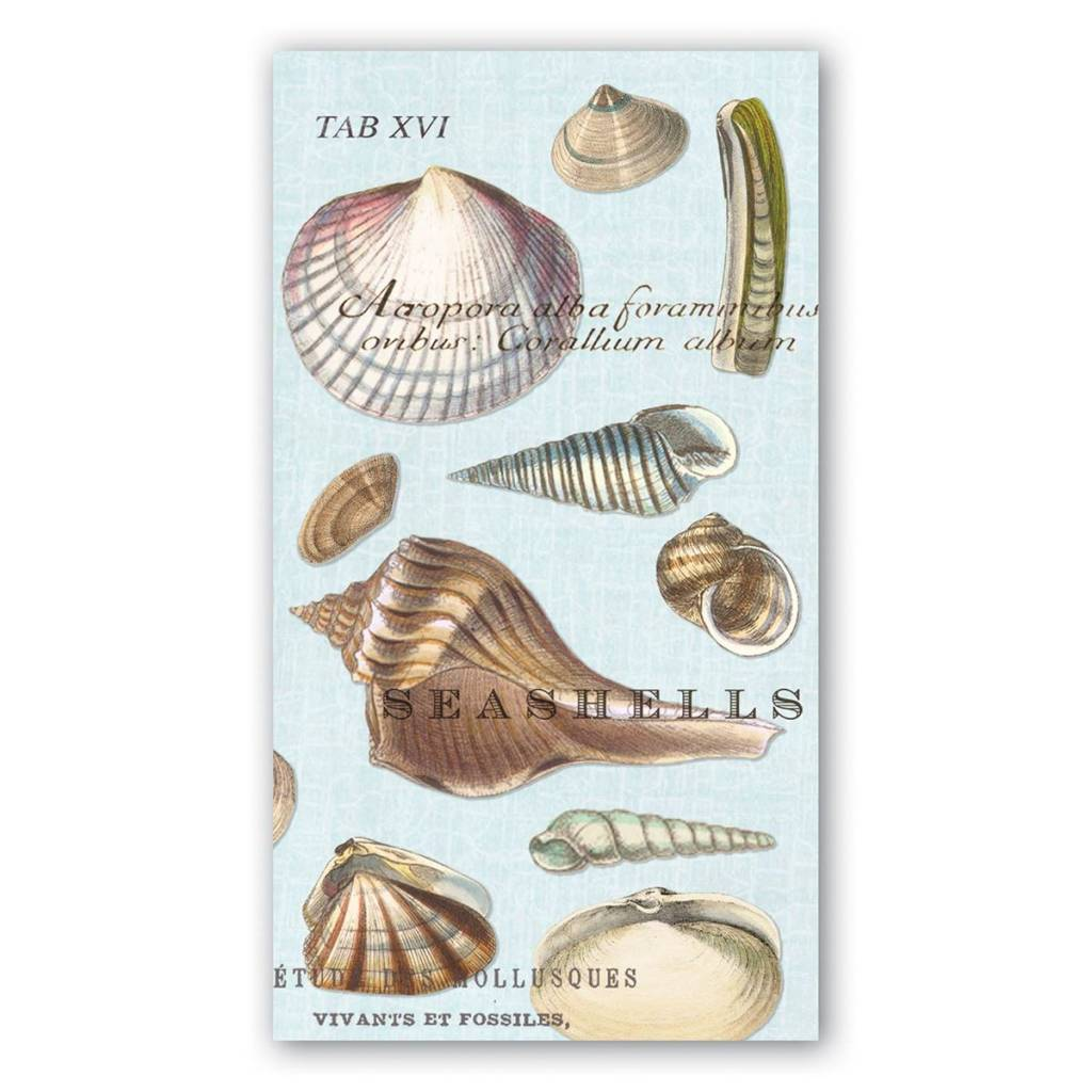 MICHEL DESIGN WORKS SEASHELLS HOSTESS NAPKIN