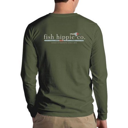 FISH HIPPIE HOOKS & FEATHERS L/S T SHIRT