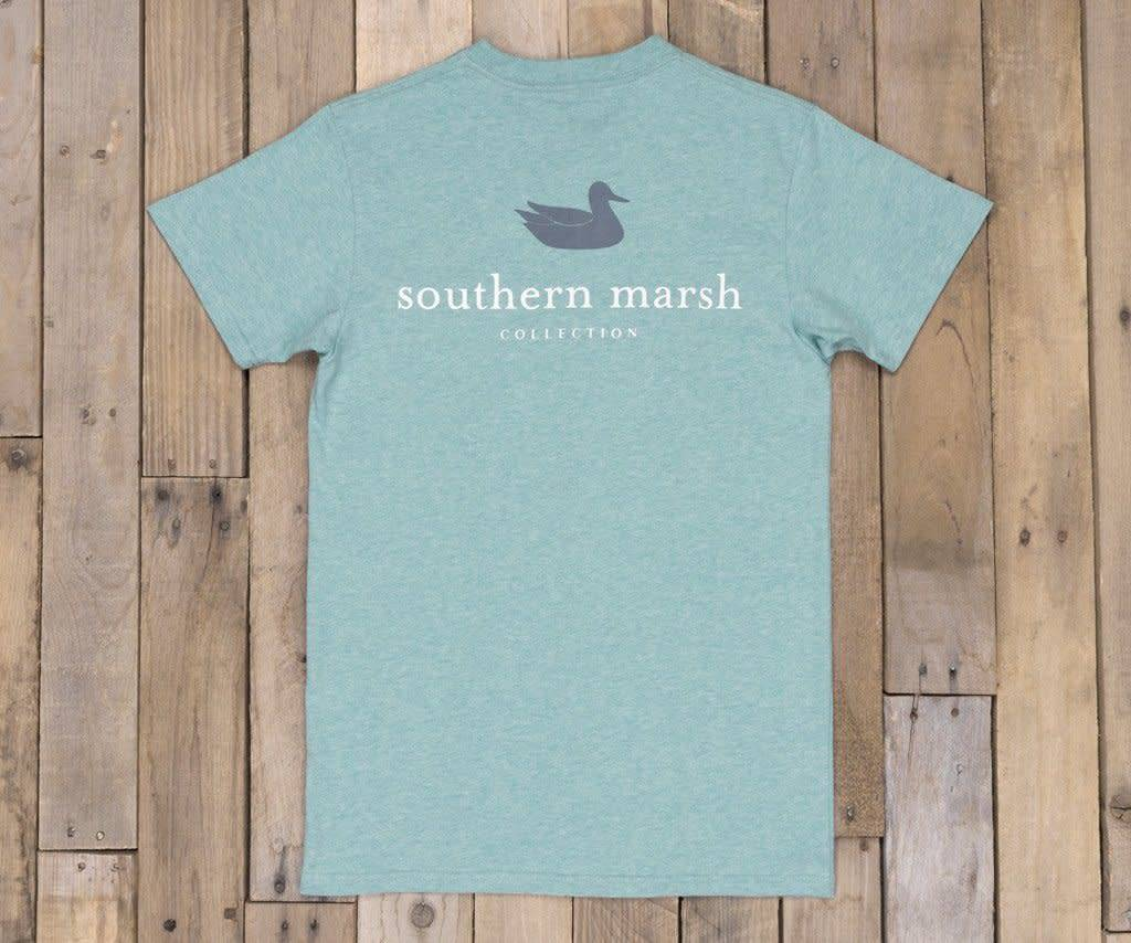 SOUTHERN MARSH AUTHENTIC SHORT SLEEVED HEATHER TEE