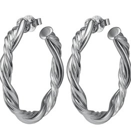 SHEILA FAJL ROPE HOOP EARRINGS