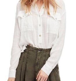 FREE PEOPLE TALK TO ME BUTTONDOWN