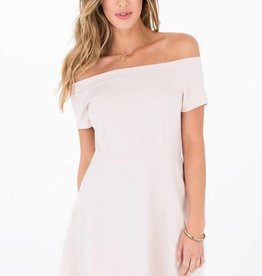 OTHERS FOLLOW MAXINE OFF-THE-SHOULDER KNIT DRESS