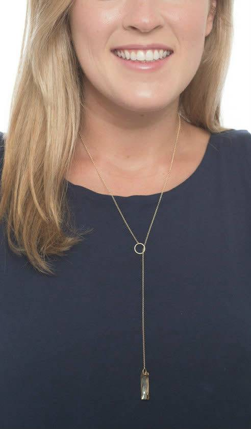 ENEWTON ALLURE HONOR LONG LARIAT NECKLACE CLEAR