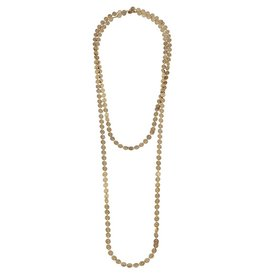 CANVAS ENDLESS LINKED DISC NECKLACE